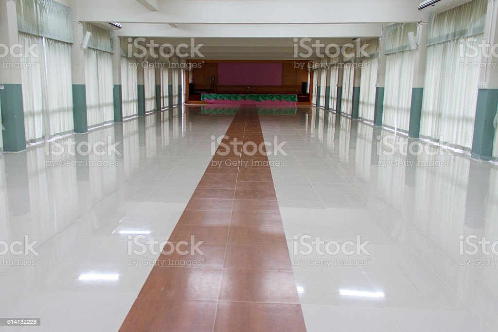 hall at School for student meeting stock photo