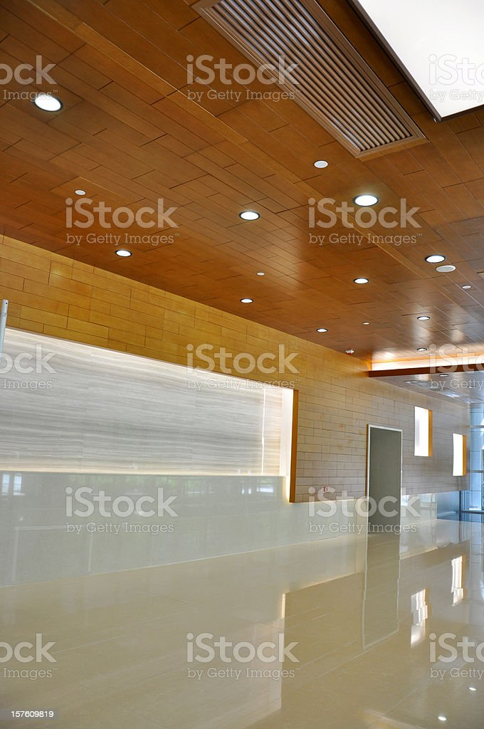 Hall / Entrance / Corridor / Interior Ceiling & Wall Lighting stock photo