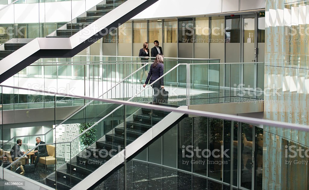 Hall In The Business Center stock photo
