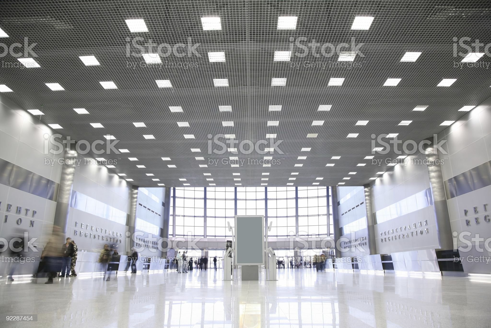 hall in the business center royalty-free stock photo