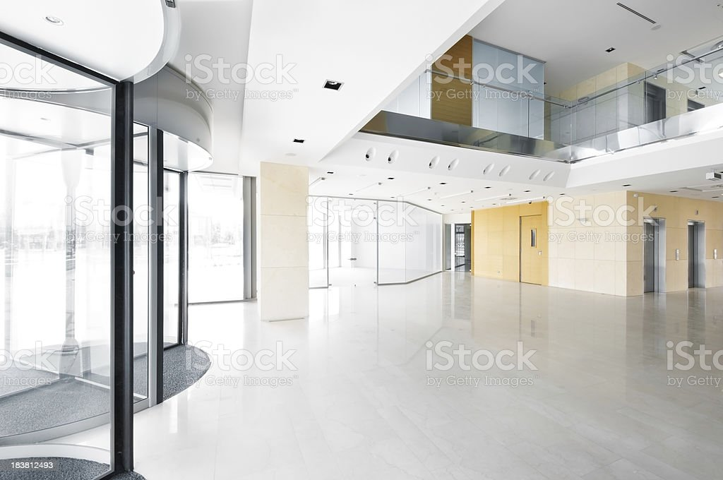 Hall in the office building. stock photo