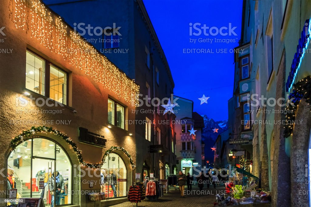 Hall in Tirol at Christmas, Austria stock photo