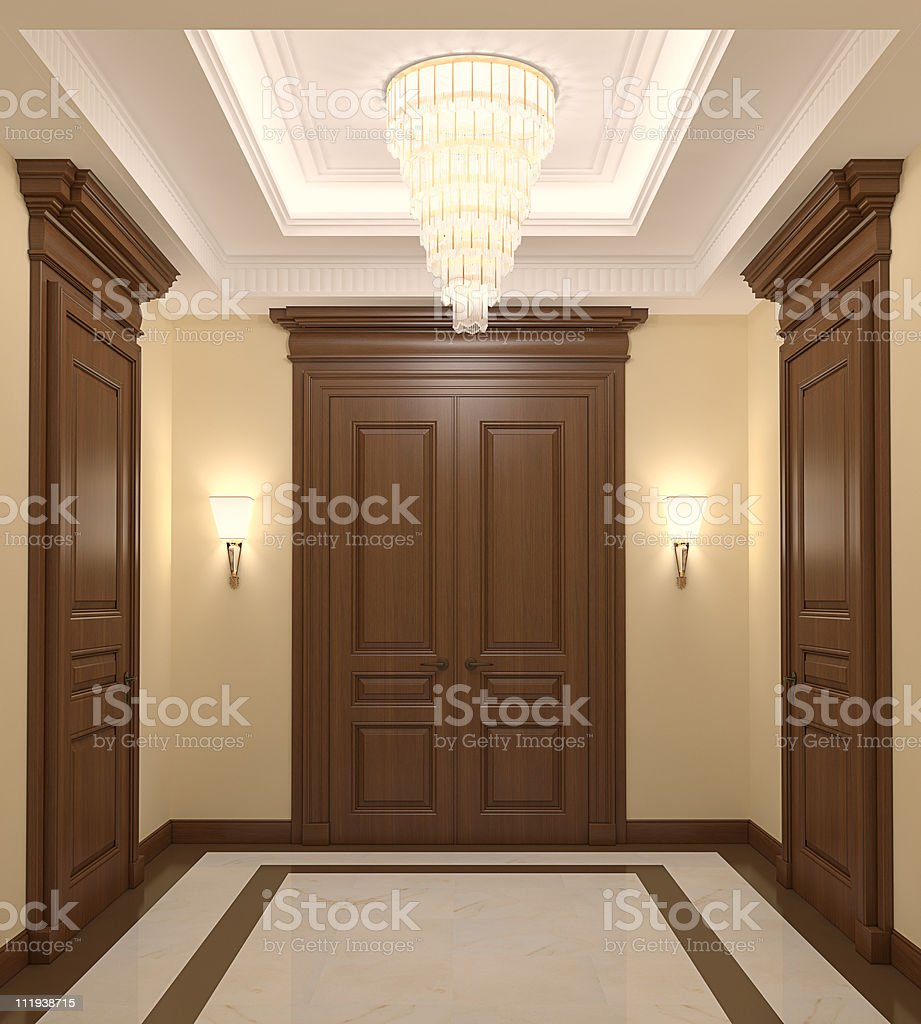Hall interior. royalty-free stock photo