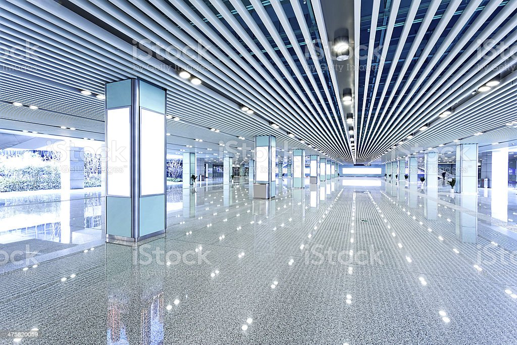 Hall of business building stock photo