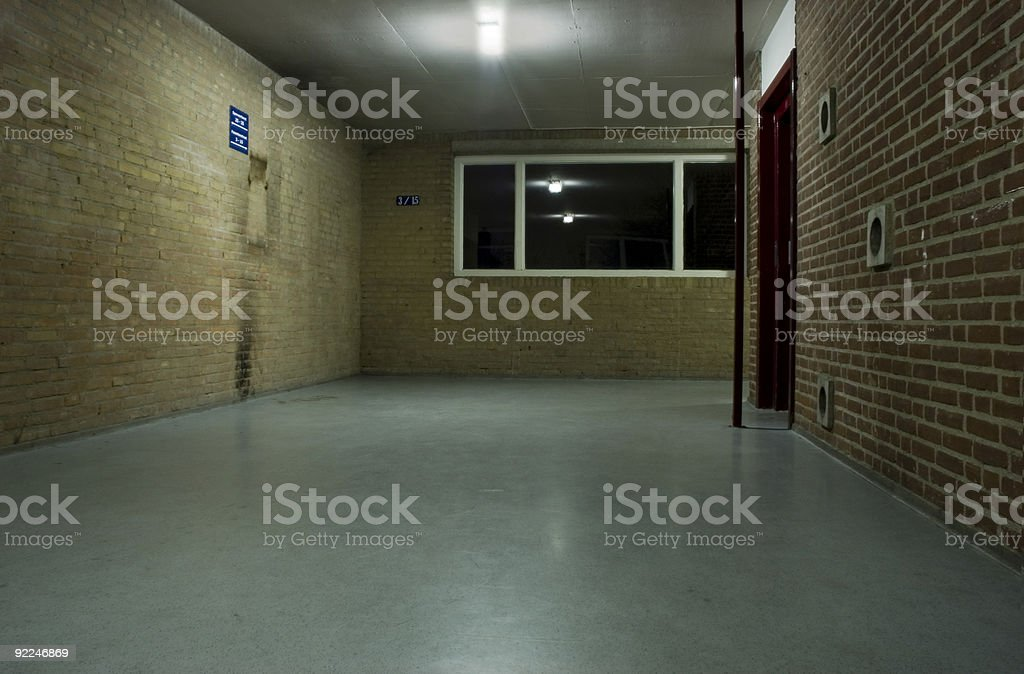 Hall of pover apartment building stock photo