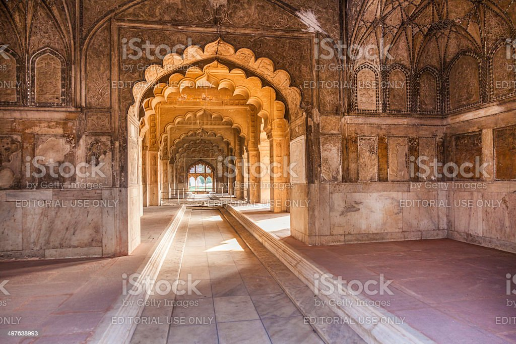 Hall of Private Audience in the red Fort royalty-free stock photo