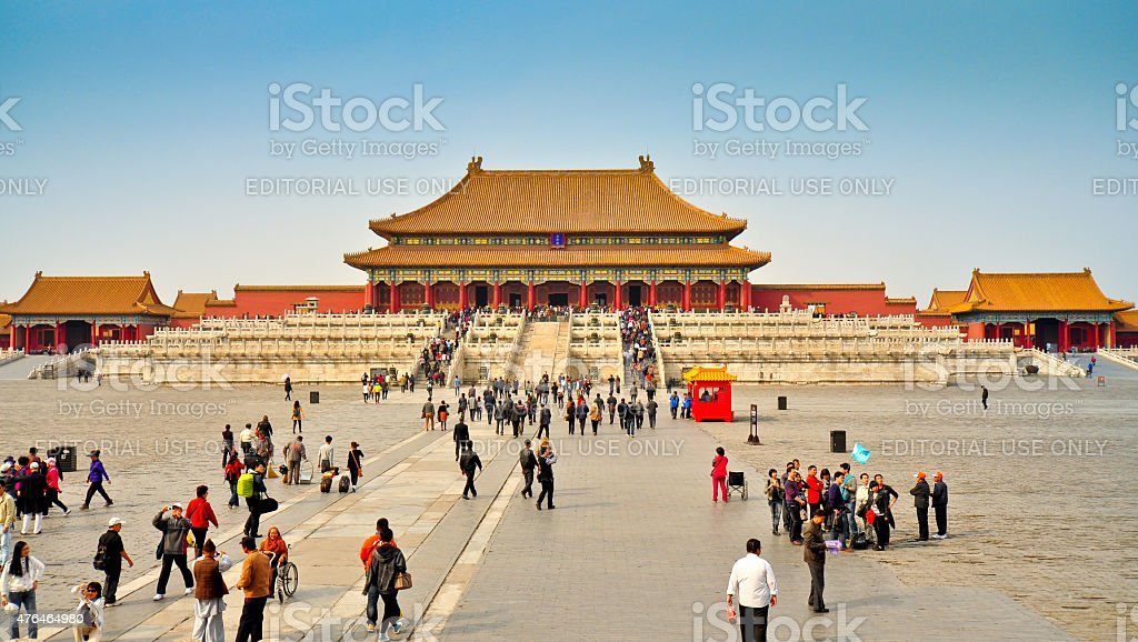 Hall of Supreme Harmony, Forbidden City, Beijing stock photo