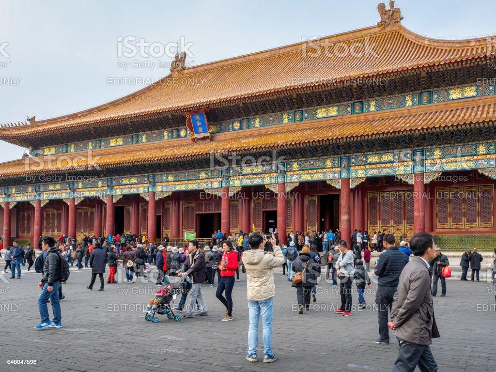 Hall of Supreme Harmony (Taihedian), Forbidden City, Beijing stock photo