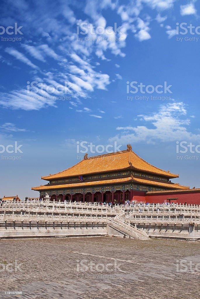 Hall of Supreme Harmony Forbidden City stock photo