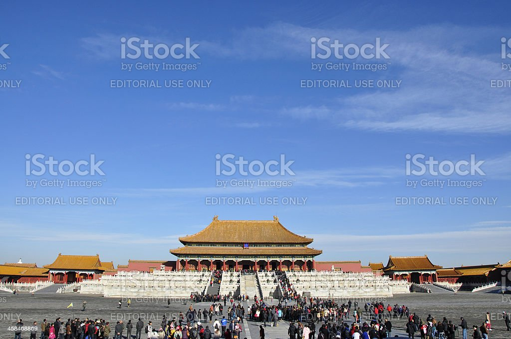 Hall of Supreme Harmony, Forbidden City stock photo