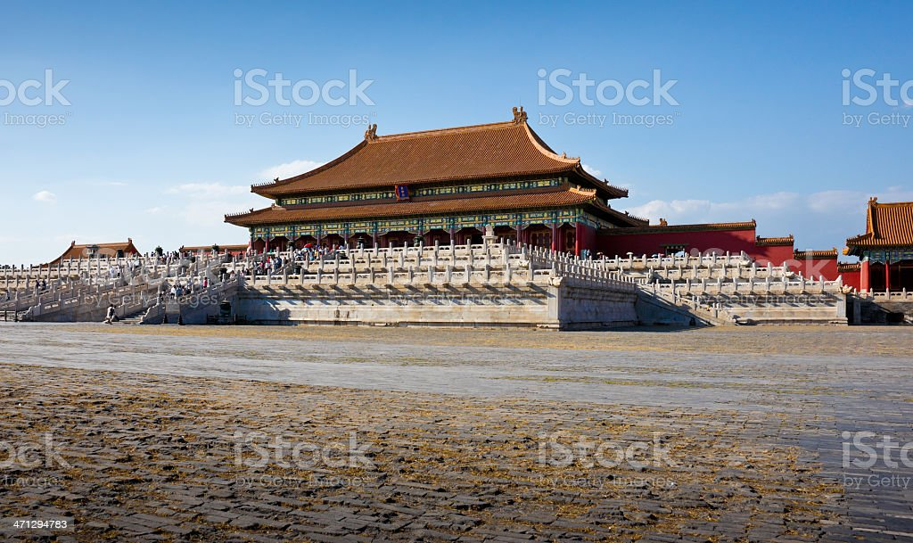 Hall of Supreme Harmony in Forbidden City, Beijing, China stock photo