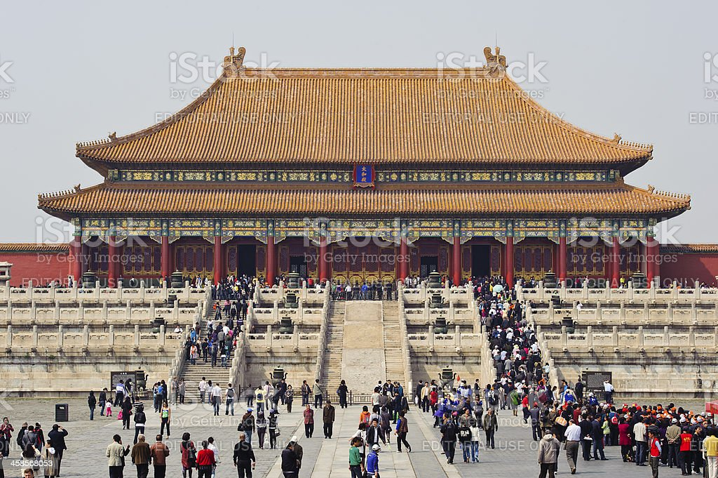 Hall of Supreme Harmony in the Forbidden City, Beijing, China stock photo