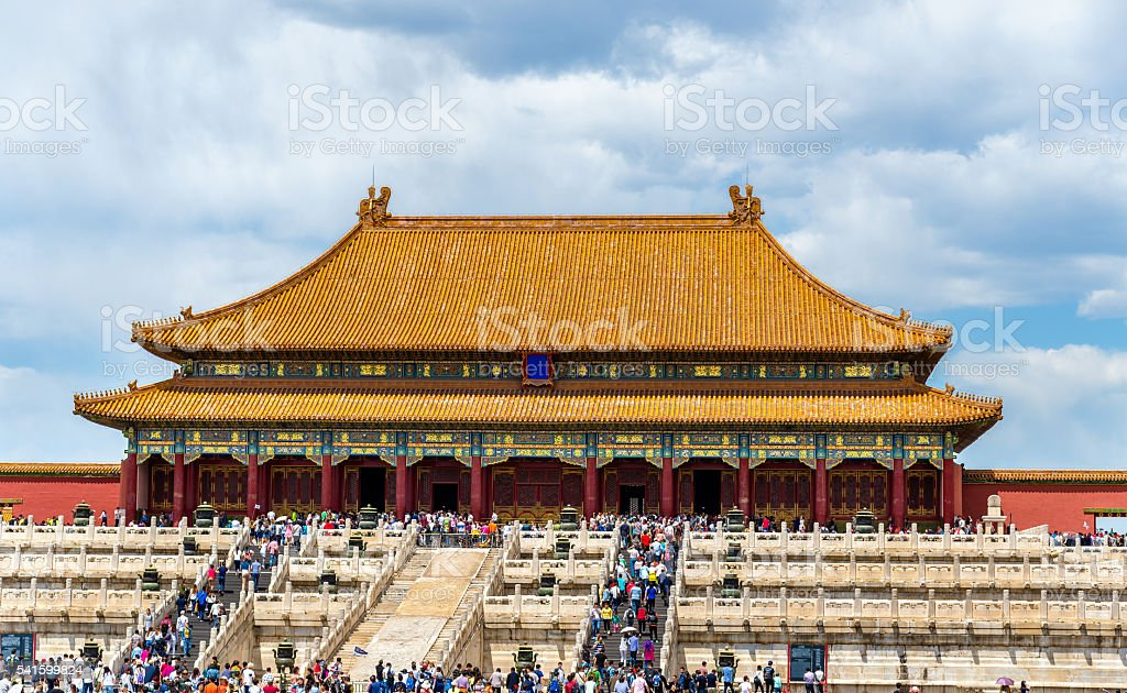 Hall of Supreme Harmony in the Forbidden City - Beijing stock photo