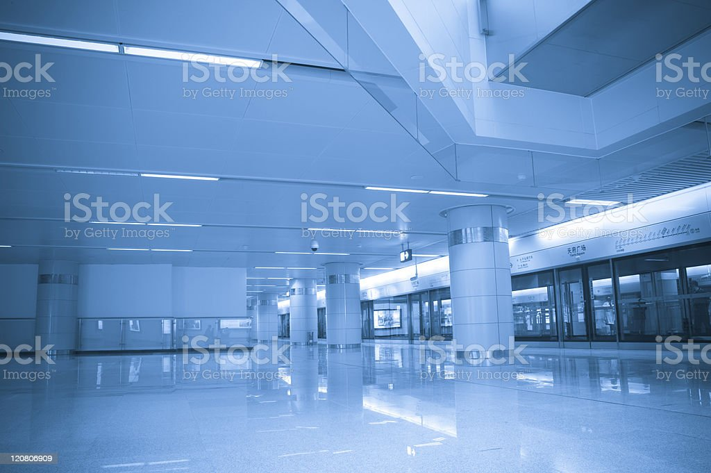 Hall Subway Station in chengdu china royalty-free stock photo