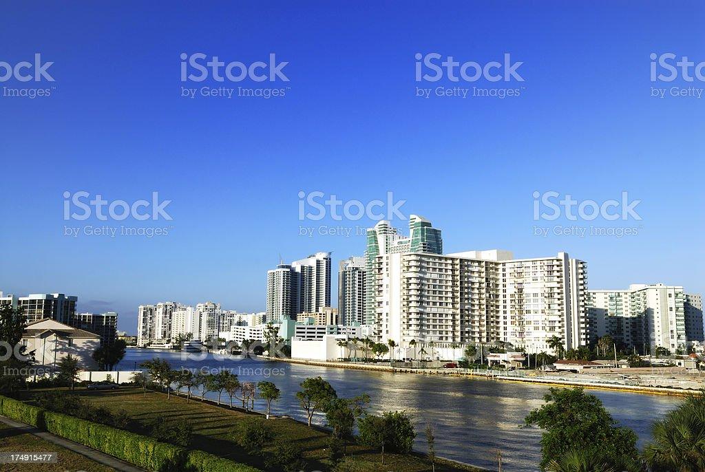hallandale miami beach stock photo