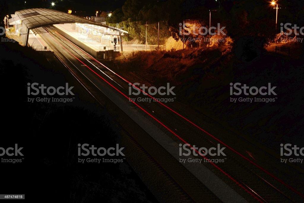 Hallett Cove Beach Railway Station, Adelaide, South Australia stock photo