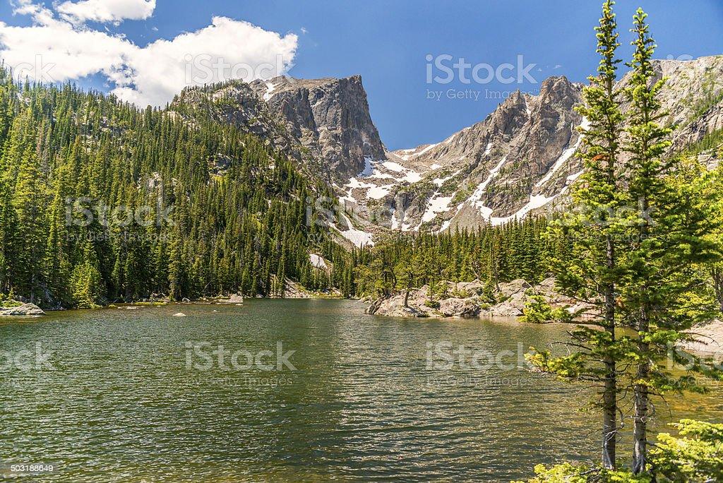 Hallett Peak, Rocky Mountain NP, Colorado stock photo