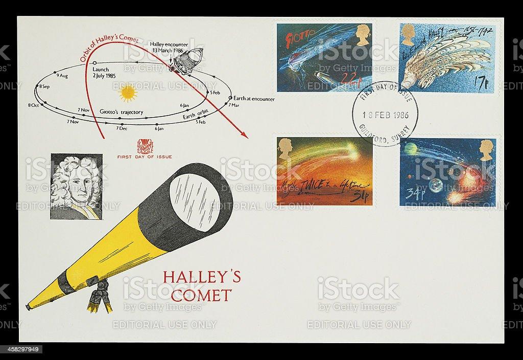 Halley's Comet stock photo