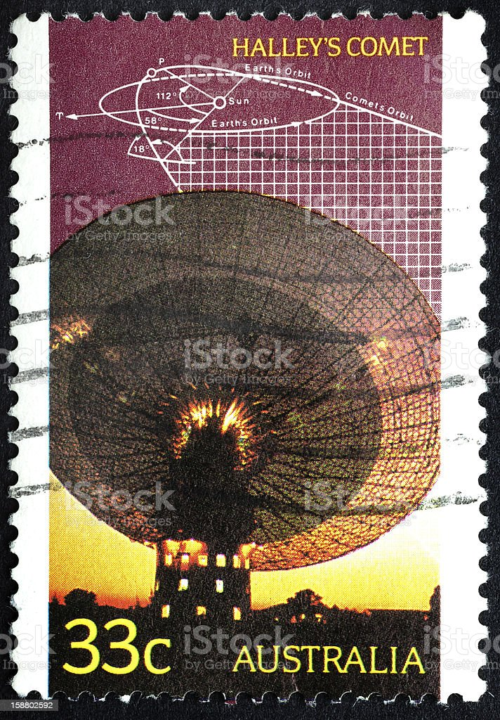 Halley's Comet Stamp stock photo