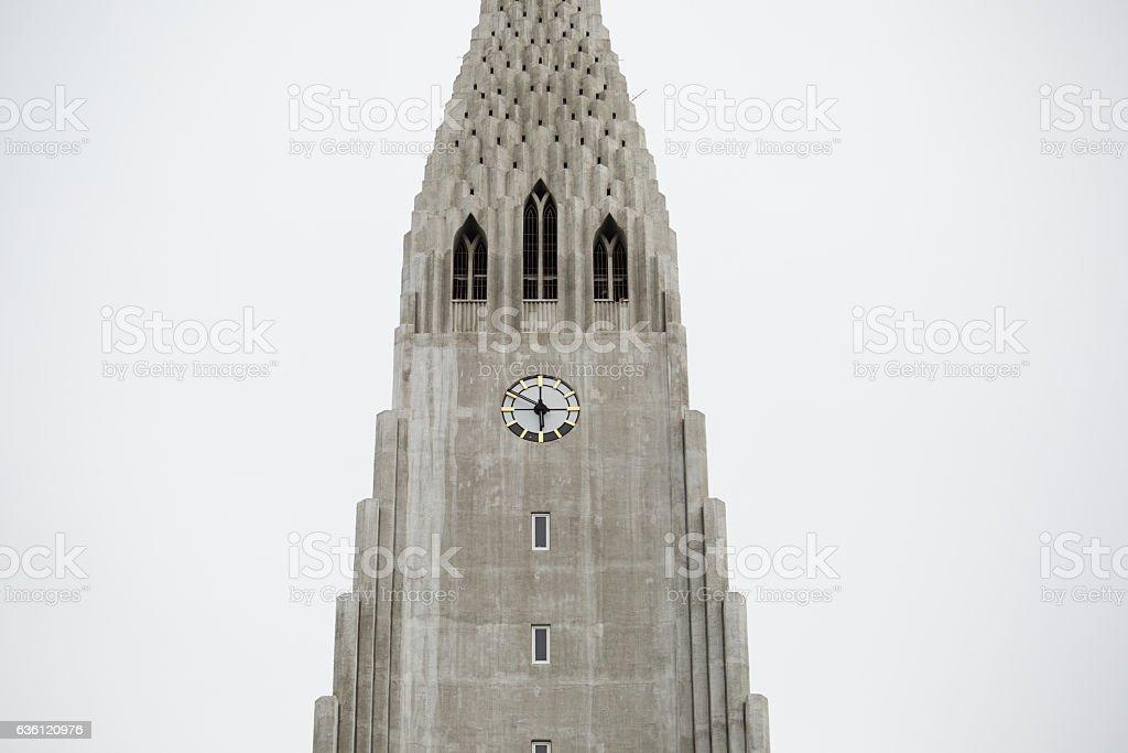 Hallgrimskirkja Cathedral in Reykjavik, Iceland stock photo