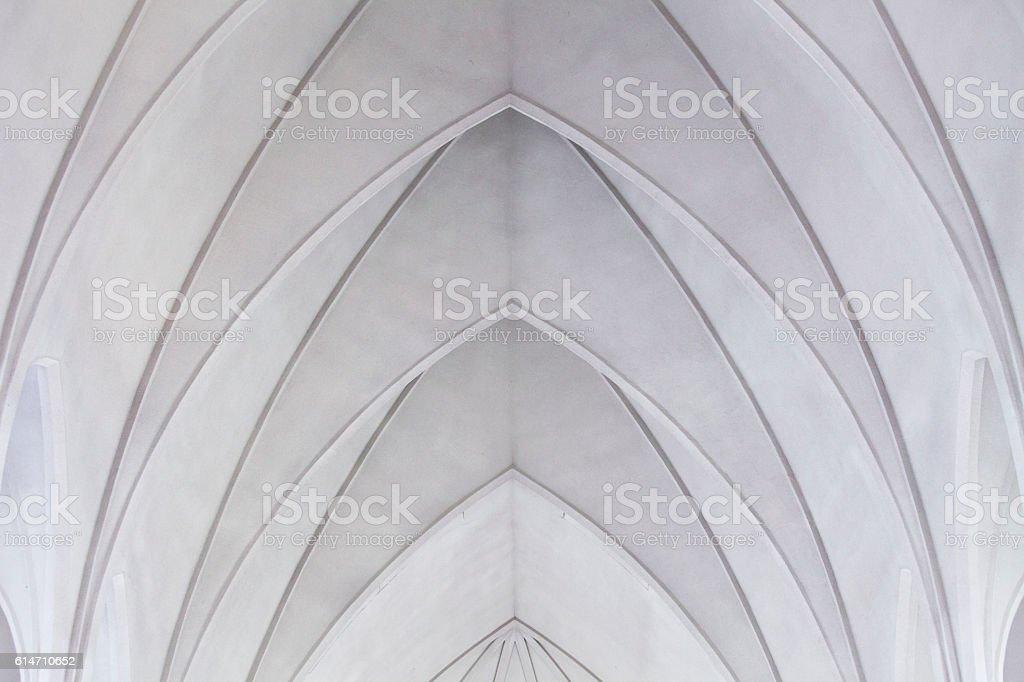 Hallgrimskirkja ceiling stock photo