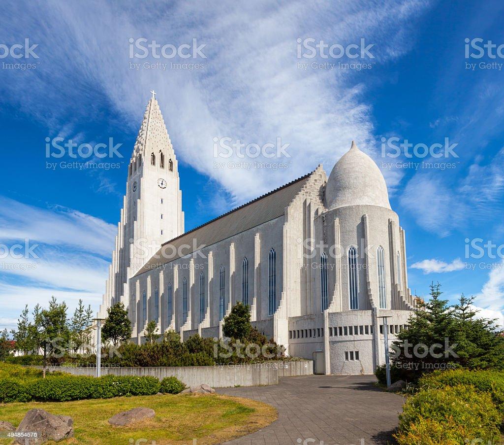 Hallgrimskirkja Church in Reykjavik Iceland stock photo