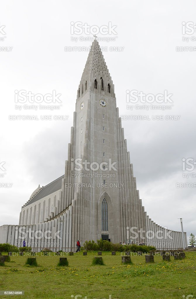 Hallgrimskirkja Church stock photo