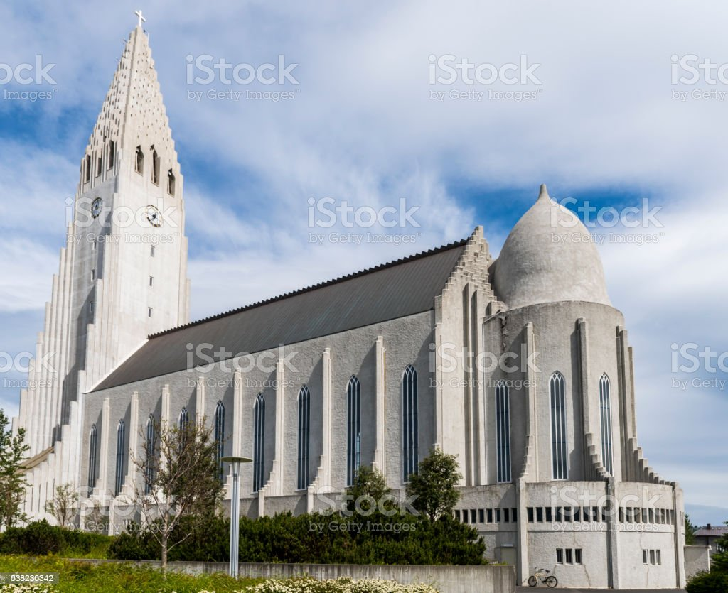 Hallgrimskirkja Church  Reykjavik Iceland stock photo