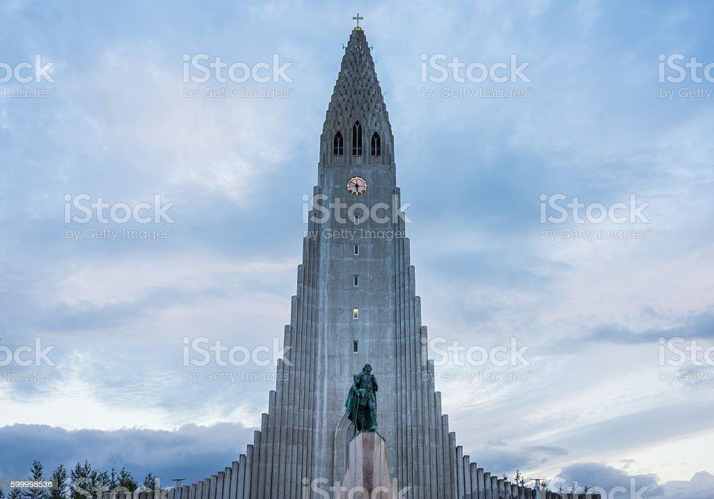 Hallgrimskirkja, Reykjavik, Iceland stock photo