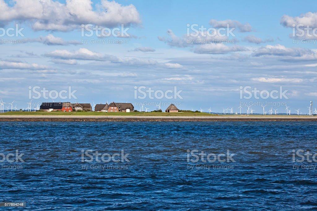 Hallig Gröde - Island in North Sea stock photo