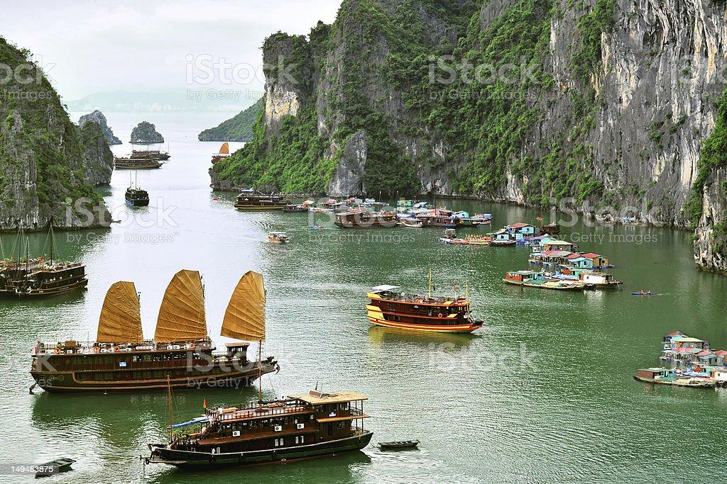 Hallong Bay scene stock photo