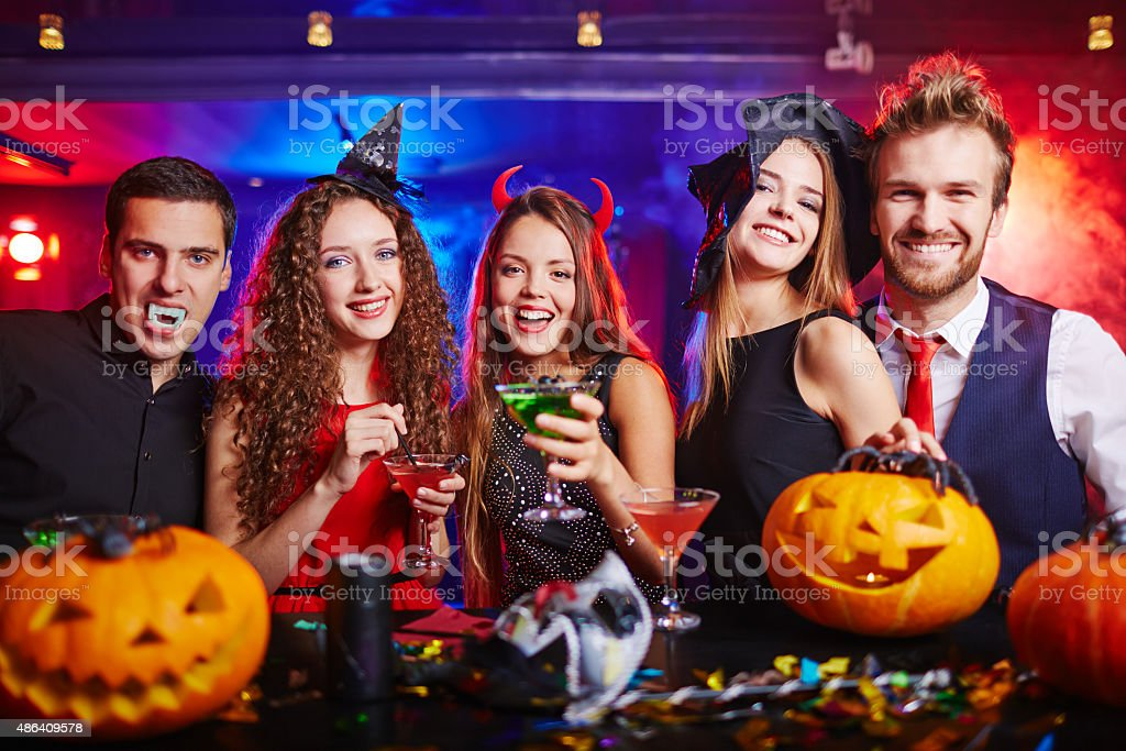 Halloween at nightclub stock photo