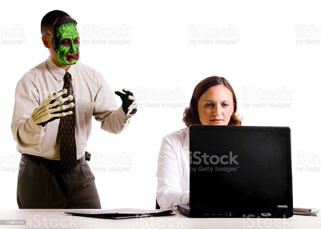 Halloween at the Office royalty-free stock photo