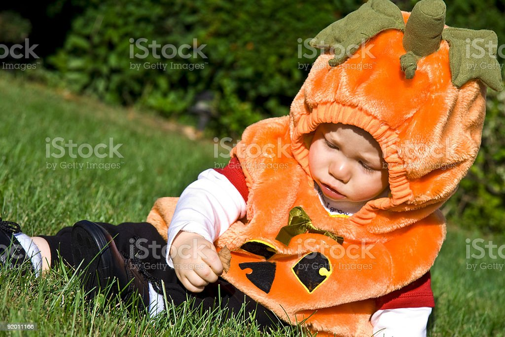 Halloween baby stock photo