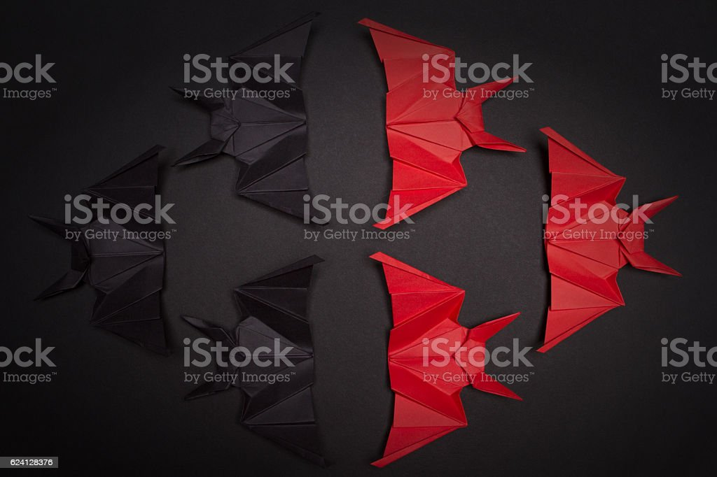 Halloween Background. Red and black mouse stock photo