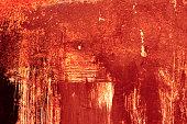 Halloween background. Red grunge metal texture background