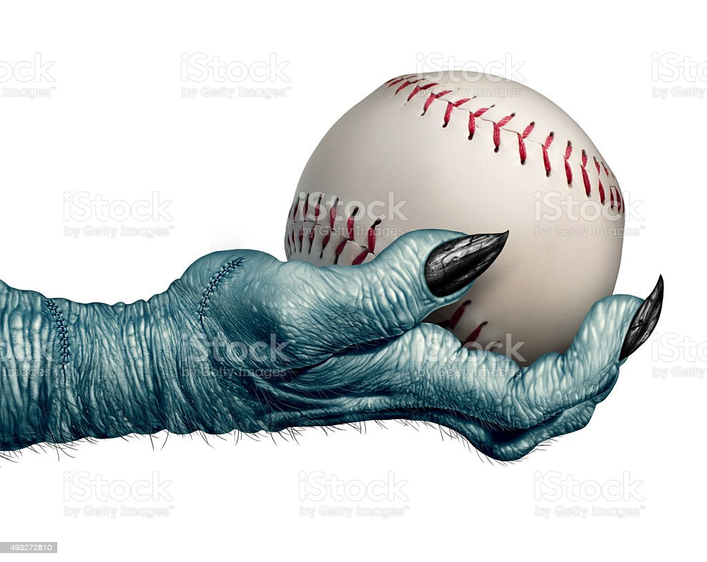 Halloween Baseball stock photo