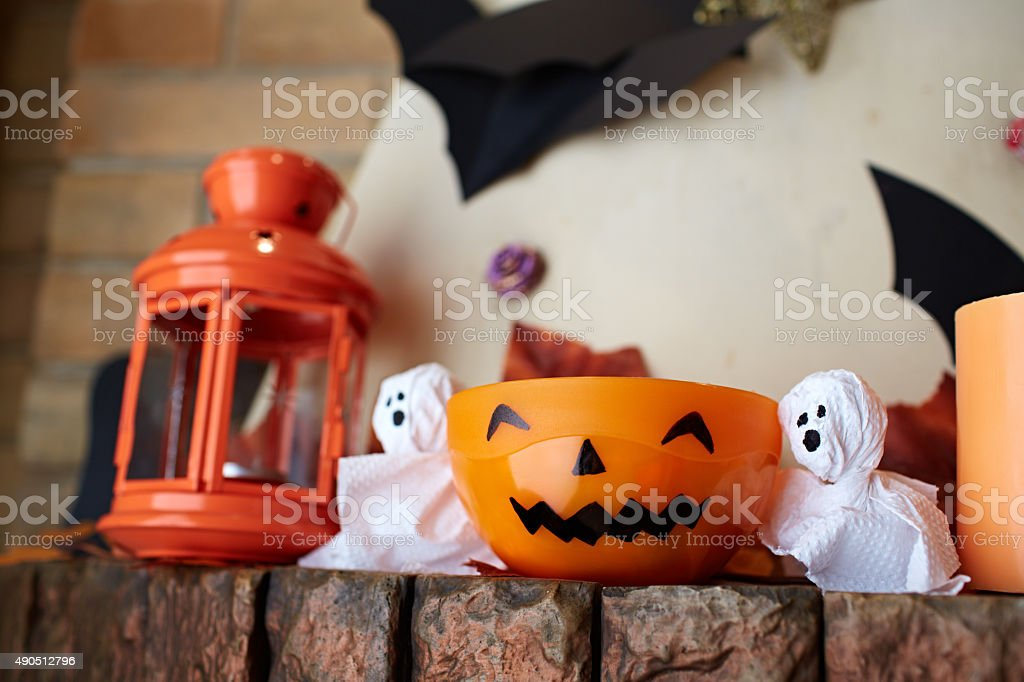 Halloween bowl stock photo
