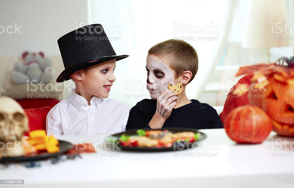Halloween boys stock photo