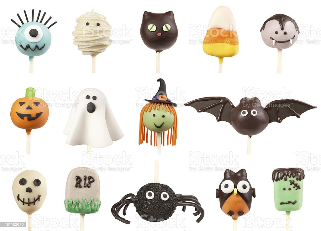 Halloween cake pops stock photo