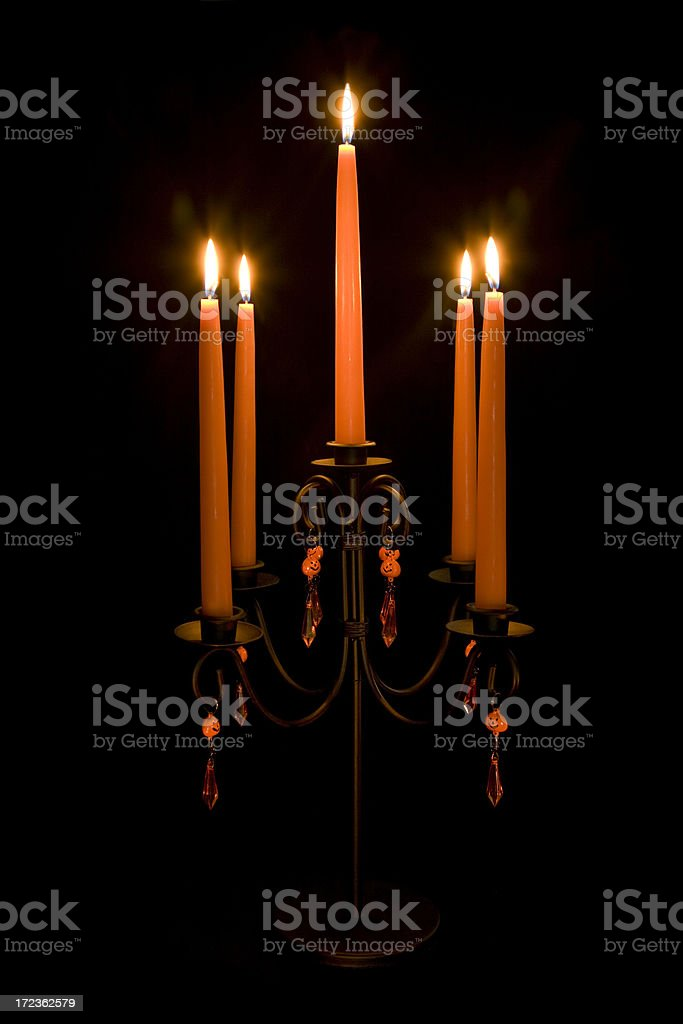 Halloween Candle (XL) royalty-free stock photo