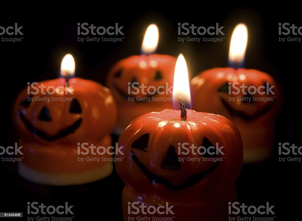 Halloween Candles royalty-free stock photo