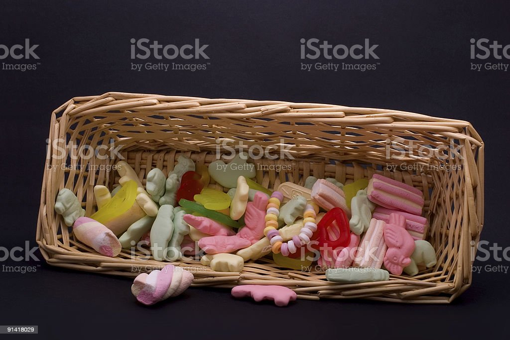 Halloween candy basket royalty-free stock photo
