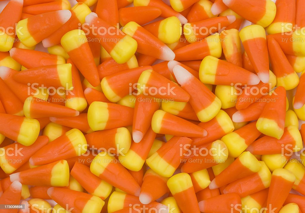 Halloween Candy Corn Background, Trick or Treat, October royalty-free stock photo