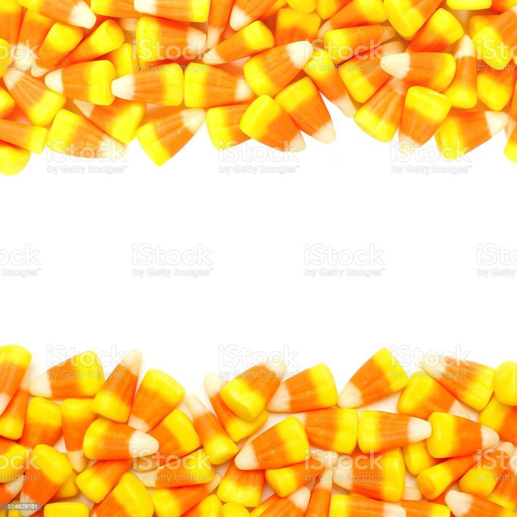 Halloween candy frame stock photo