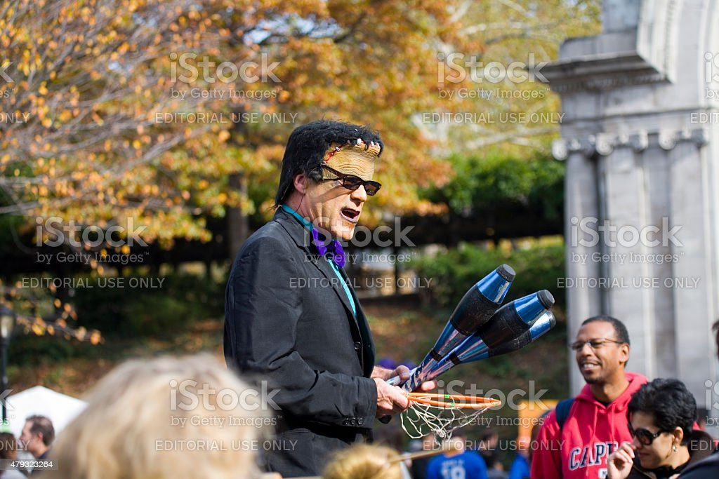 Halloween Celebration Central Park stock photo