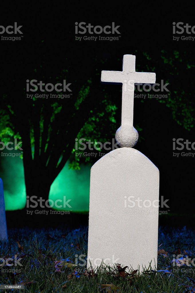 Halloween Cemetery royalty-free stock photo