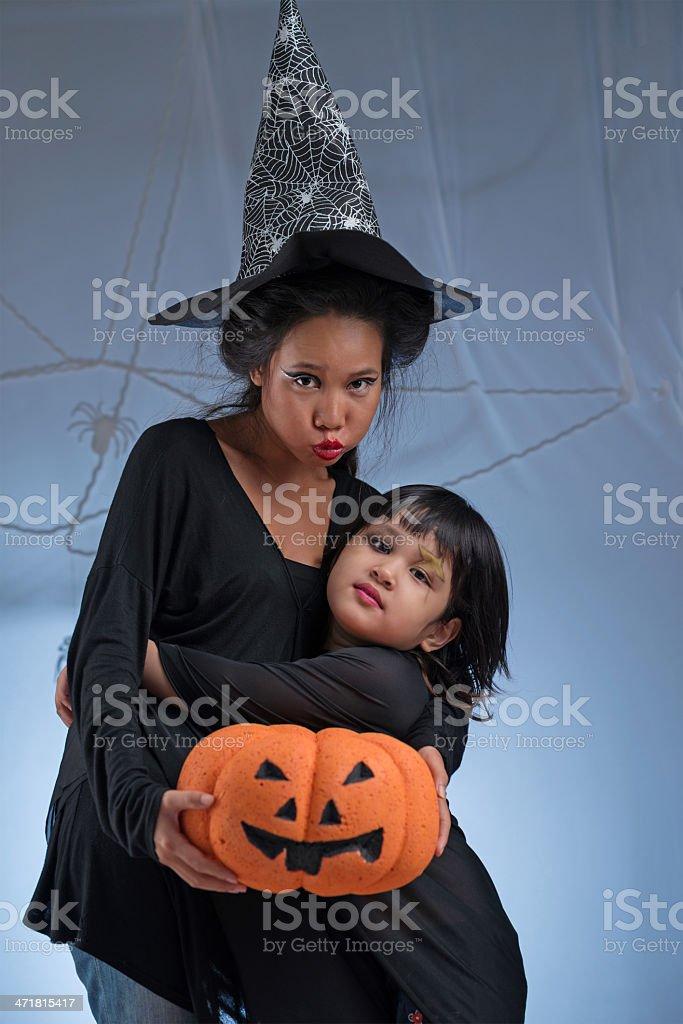 Halloween characters stock photo