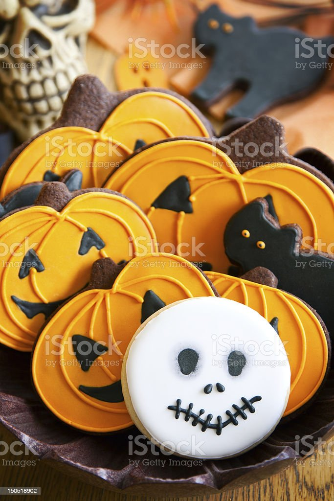 Halloween cookies royalty-free stock photo