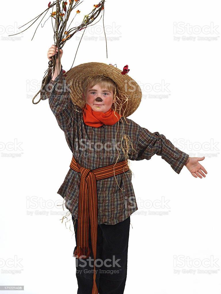 Halloween costume - Scarecrow royalty-free stock photo